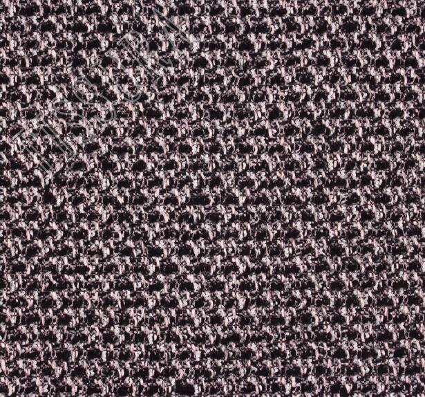 Ткань в стиле Шанель с добавлением кашемира и шелка. Дизайн – меланж. Оттенки волокон – черный, розовый, белый #3