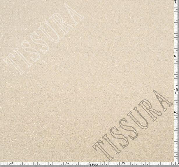 Жаккард бежевого оттенка с растительным узором #2
