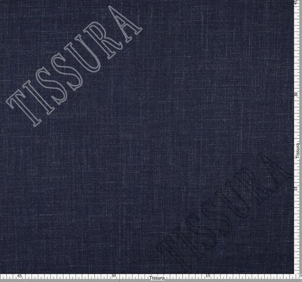 Шерсть из мериносовой шерсти, шелка и льна: цвет – темно-синий #2