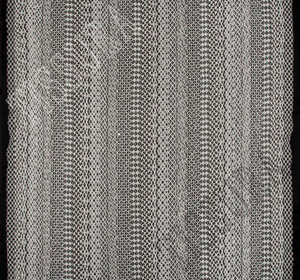 Кружево шантильи с вышивкой #3