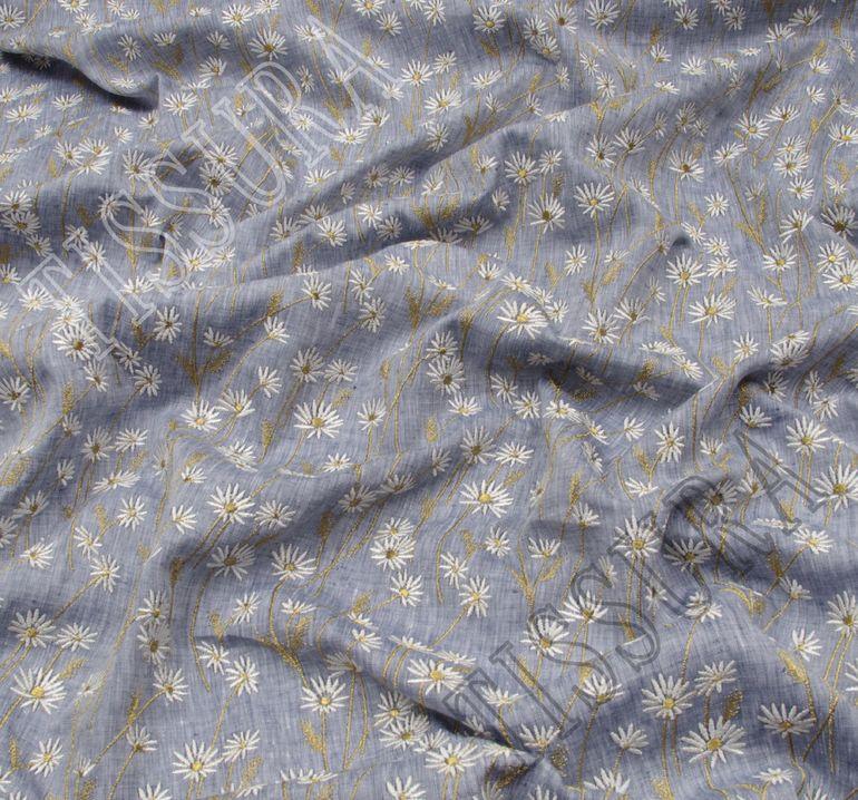 Лен с вышивкой #4