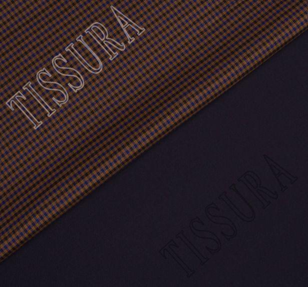 Костюмная ткань двусторонняя с эластаном #1