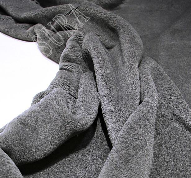 Мех «Zelander» серый из новозеландской шерсти и шелка #1