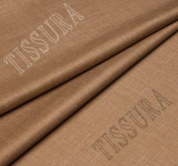 Шерсть из мериносовой шерсти, шелка и льна: цвет – светло-коричневый #1