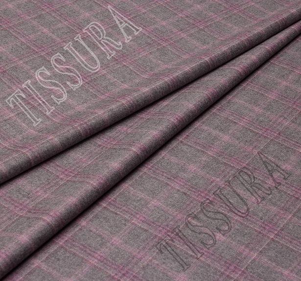 Твил из 100% шерсти с индексом Super 130's в клетку пастельных оттенков #1