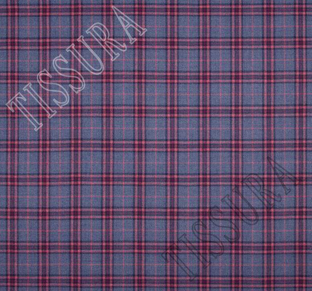 Мягкий и теплый твил из 100% шерсти. Дизайн – вариации на тему шотландской клетки (тартана) – классика #2