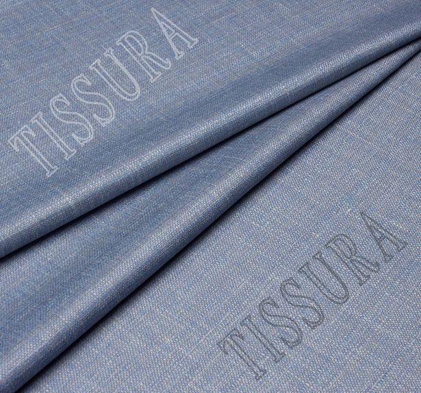 Шерсть-стрейч из тончайшей мериносовой шерсти, шелка и льна: цвет – серо-голубой #1