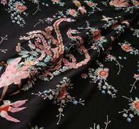 Креп-сатин шелковый с вышивкой #4