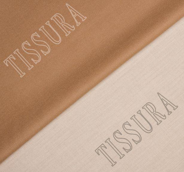 Пальтовая ткань двусторонняя молочного цвета и светло-коричневого цвета #1