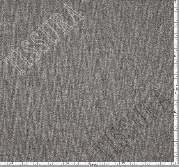 Пальтовая ткань двусторонняя с одной стороной в серую «ёлочку», с другой коричневого оттенка #3