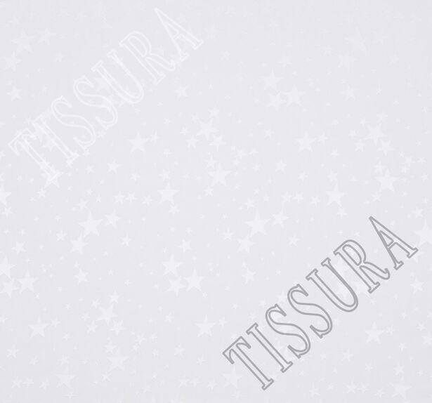 Жаккард шелковый молочного оттенка со звездами #3