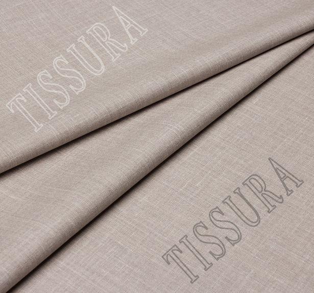 Двусторонняя шерсть из мериносовой шерсти, шелка и льна оливкового и серо-бежевого цвета #2