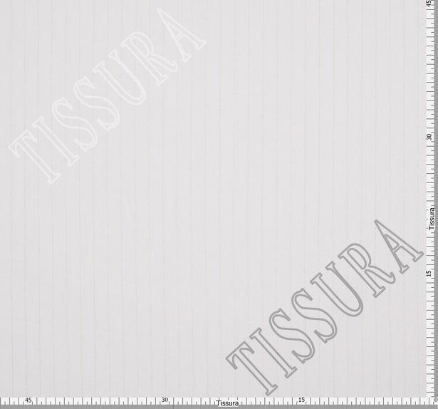 Жаккард льняной белого цвета в золотистую полоску #2