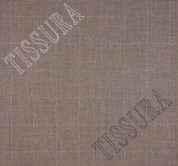 Шерсть коричневого цвета, украшенная знаменитой клеткой «Принц Уэльский» #2
