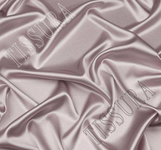 Итальянский атлас стрейч серо-перламутрового оттенка из шелка с добавлением эластана #1