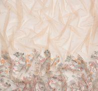 Сетка с вышивкой и кристаллами #4