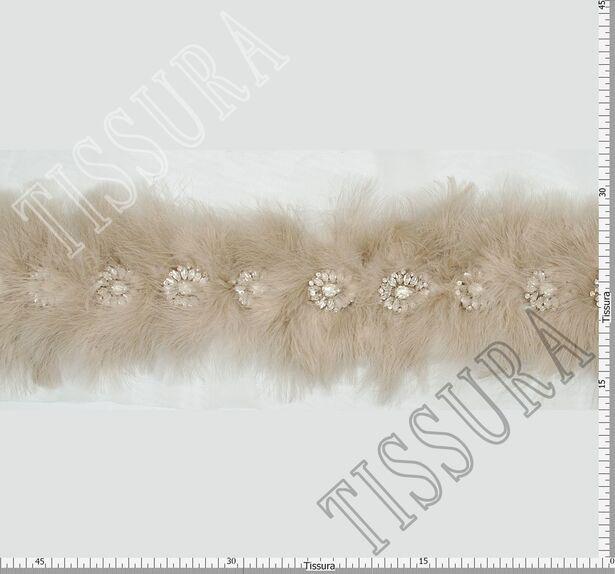 Тесьма с перьями и кристаллами #2