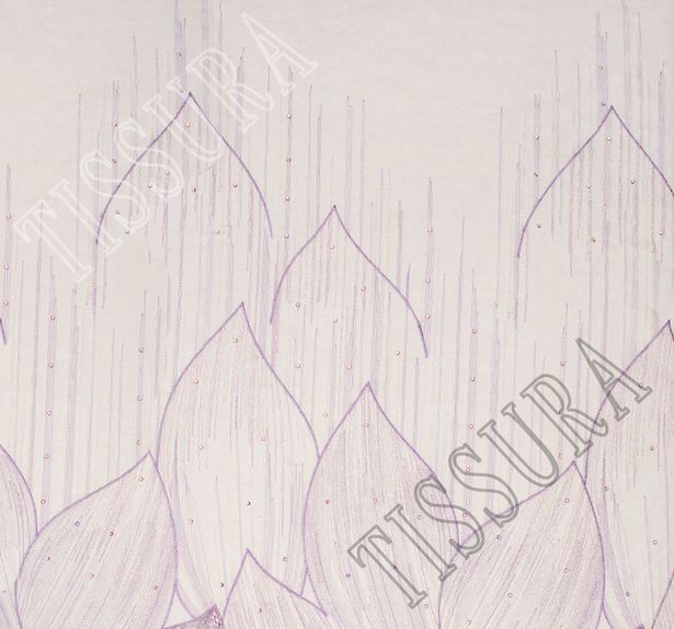 Сетка с вышивкой и кристаллами Swarovski #3