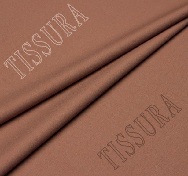 Шерстяная ткань коричневого цвета из высококачественной шерсти новозеландского мериноса #1