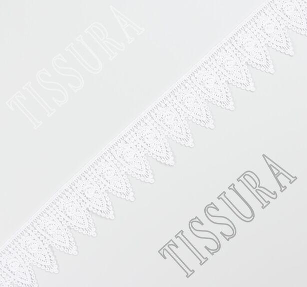 Гипюровая тесьма белого цвета #1