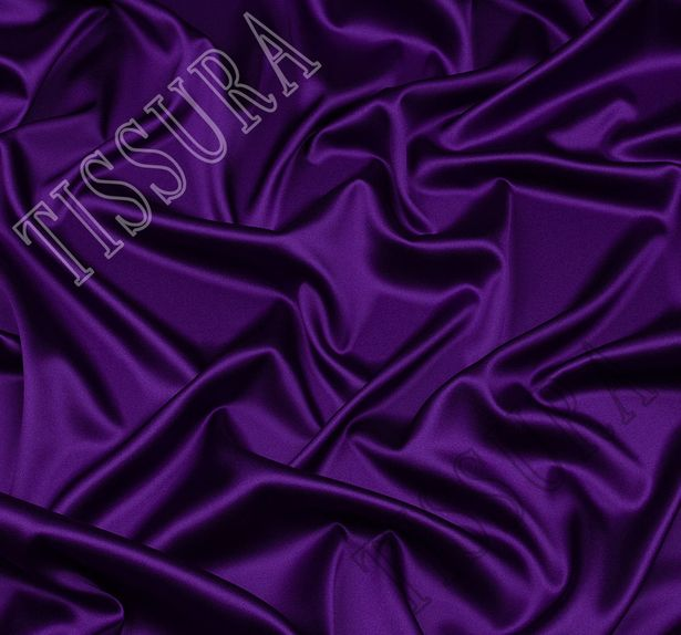Итальянский атлас стрейч фиолетового оттенка #1