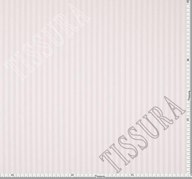 Жаккард хлопковый нежно-розового оттенка в полоску #2