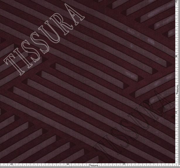 Шелковый жоржет-филькупе бордового цвета #3