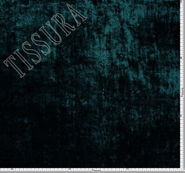 Двухсторонний бархат зеленого цвета с принтом пейсли: зеленый, бежевый, светло-коричневый #2