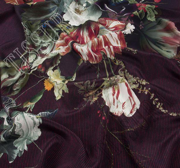 Крепдешин с цветочным принтом #3