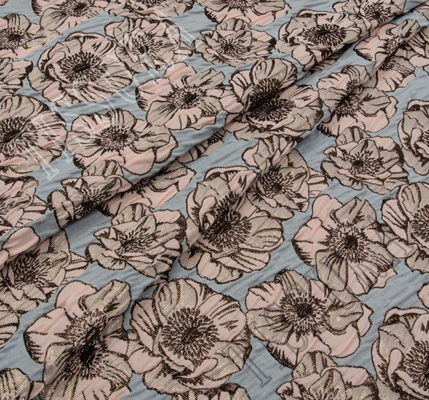 Жаккард-клоке с цветочным узором #1