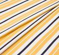 Жаккард белый в желтую и черную полоску #1