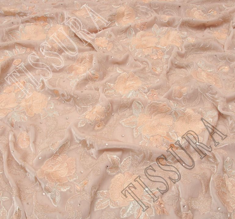 Бархат с вышивкой и кристаллами Swarovski #4