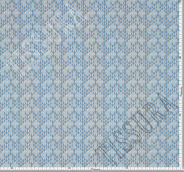 Поплин-стрейч в светло-голубых тонах и стилизован под рыбью чешую #2