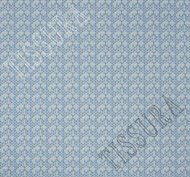 Поплин-стрейч в светло-голубых тонах и стилизован под рыбью чешую #3