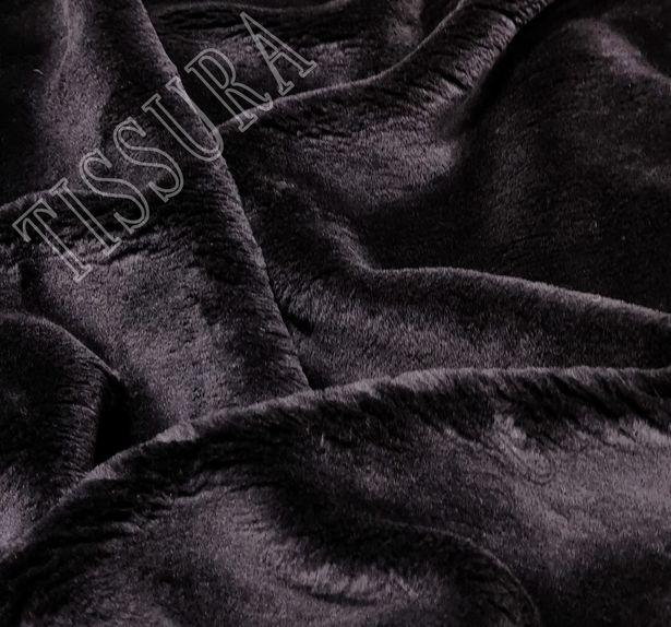 Мех «Zelander» темно-синий из новозеландской шерсти и шелка #1