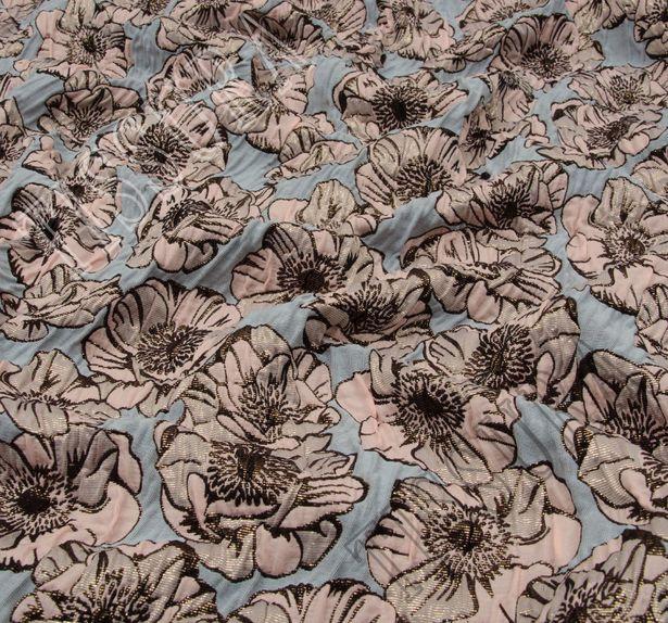 Жаккард-клоке с цветочным узором #3