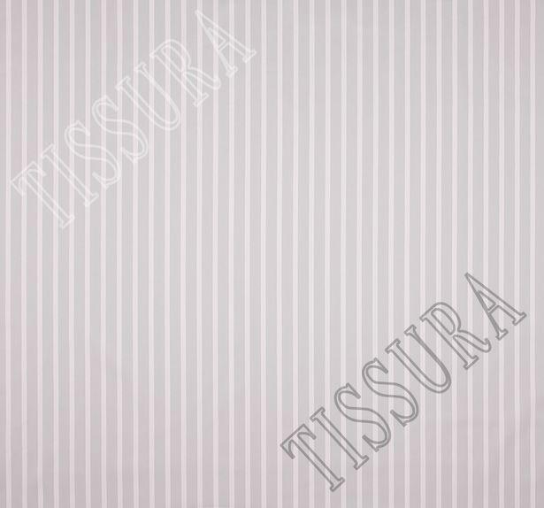 Сатин из хлопка с добавлением эластана, украшенная белыми и серыми полосами #2