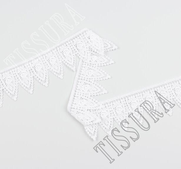 Гипюровая тесьма белого цвета #3