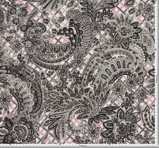 Жаккард из шерсти и шелка с разными узорами #2