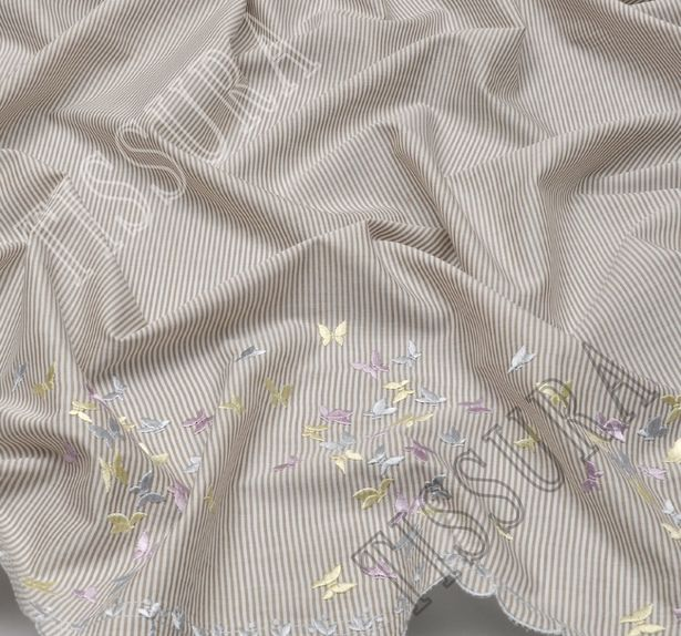 Хлопковый поплин с вышивкой #4