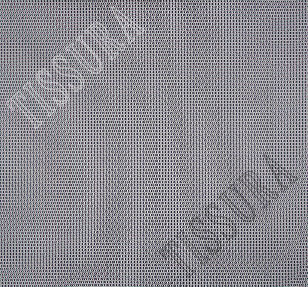 Поплин-стрейч темно-синего цвета с некрупным орнаментом в виде белых завитков #3