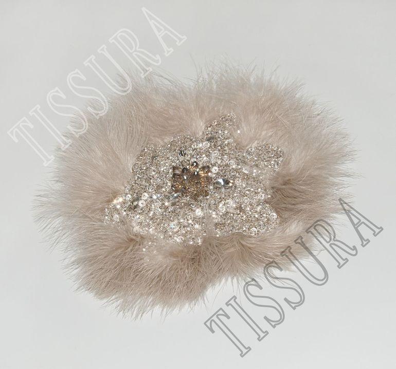 Нашивка с перьями марабу #1