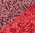 Двухсторонний бархат: красный, бежевый - украшен узором деворе «гусиная лапка», изнаночная – принтом пейсли #1