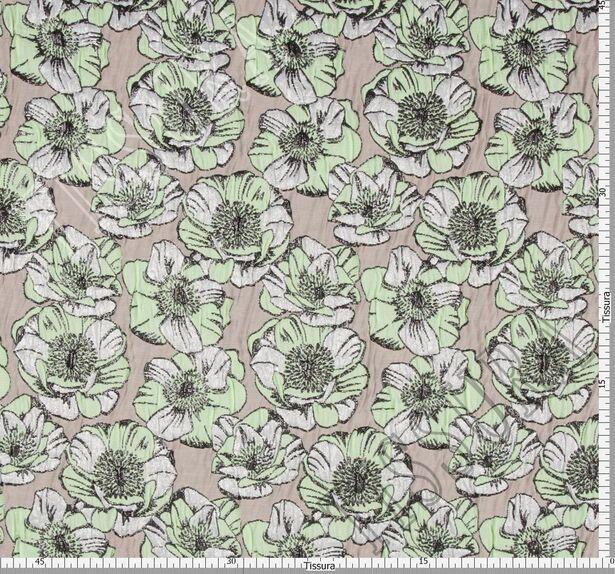 Жаккард-клоке с цветочным узором #2