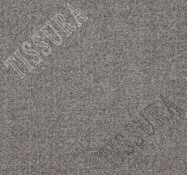 Пальтовая ткань двусторонняя с одной стороной в серую «ёлочку», с другой коричневого оттенка #2