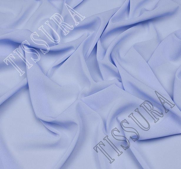 Итальянский жоржет голубого оттенка из шелка с добавлением эластана #1