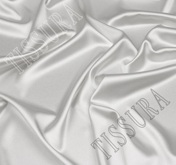 Итальянский атлас стрейч стального оттенка из шелка с добавлением эластана #1