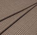 Ткань из шерсти Pecora Nera® в бежево-коричневую клетку «Принц Уэльский» #1