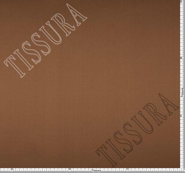 Итальянский атлас стрейч коричневого оттенка из шелка с добавлением эластана #2