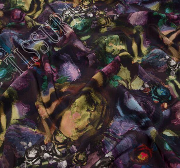 Крепдешин с абстрактным принтом #3